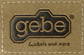 gebe textil technik gmbh - Pfalzgrafenweiler Germany, Embossing labels, Technical embossed and cut parts, Home textiles, Ribbons and piping, Promotion, Zippers, Accessories logo